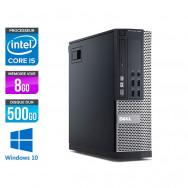 Dell Optiplex 9020 SFF - i5 - 8 Go - HDD 500 Go - DVDRW - Windows 10 Professionnel