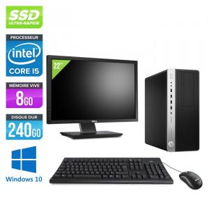"""HP EliteDesk 800 G3 Tour - Windows 10 + Écran 22"""""""