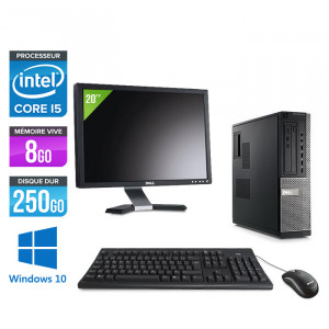 Dell Optiplex 790 Desktop - Windows 10 + Ecran 20''