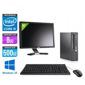 "HP EliteDesk 800 G1 SFF - Windows 10 + Écran 20"""