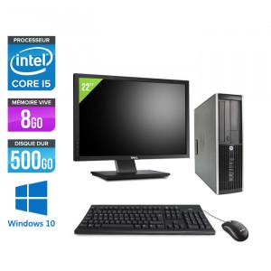 HP Elite 8300 SFF - Windows 10 + Ecran 22''