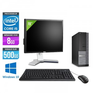 Dell Optiplex 3020 SFF - Windows 10 + Écran 19""