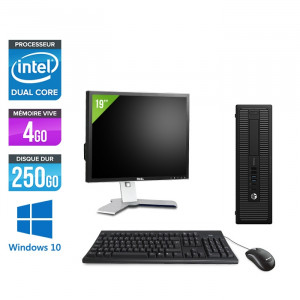 "HP EliteDesk 800 G1 SFF - Windows 10 + Écran 19"""