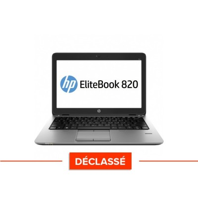 Pc portable - HP Elitebook 820 G1 - i5 4300U - 8Go - 120 Go SSD  - Windows 10 -Trade discount - Déclassé