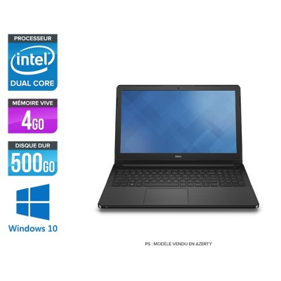 Ordinateur portable reconditionné - DELL Vostro 15 3568 - Intel Celeron 3855U - 4 Go - 500 Go HDD - Windows 10