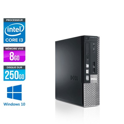 Dell Optiplex 790 USFF - i3 - 8Go - 250Go - Windows 10