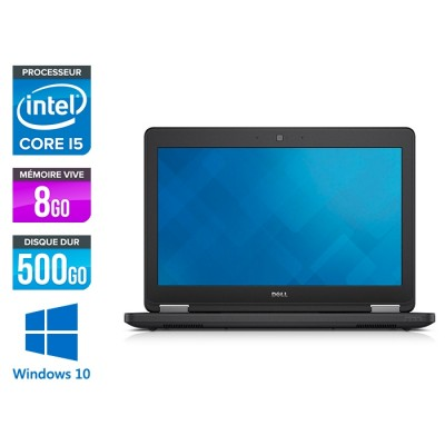 Dell Latitude E5250 - i5 - 8Go - 500Go HDD - Windows 10