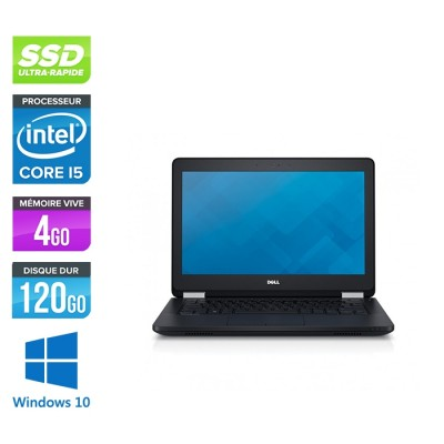 Pc portable - Dell Latitude E5270 reconditionné - i5 - 4Go - 120Go SSD - Windows 10