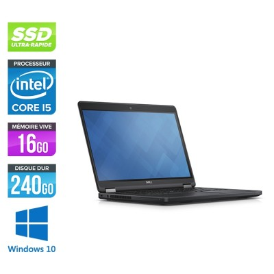 Dell Latitude E5450 - i5 - 16Go - 240 Go SSD - Windows 10