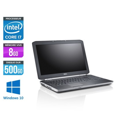 Dell Latitude E5520 - i7 - 8 Go - 500 Go - Windows 10