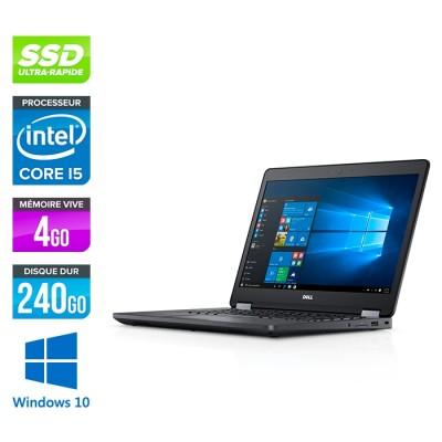Pc portable reconditionné - Dell Latitude E5470 - i5 6200U - 4Go DDR4 - 240 Go SSD - Windows 10