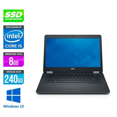Pc portable reconditionné - Dell Latitude E5470 - i5 6200U - 8Go DDR4 - 240 Go SSD - Windows 10
