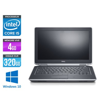 Dell Latitude E6330 - Core i5-3320M - 4Go - 320 Go HDD- lecteur dvd - windows 10