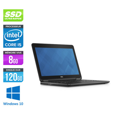 Ordinateur portable reconditionné - Dell Latitude E7240 - Core i5 - 8 Go - 120Go SSD - Windows 10