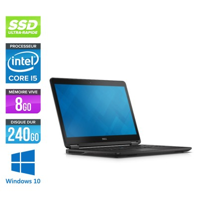 Dell E7450 - Core i5 - 8 Go - 240Go SSD - Windows 10