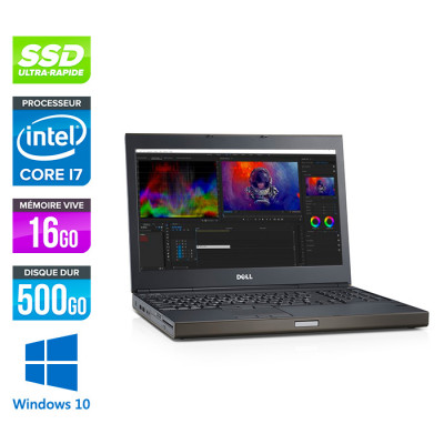 Dell Precision M4800 - i7 - 16Go - 500Go SSD - NVIDIA Quadro K2100M - Windows 10