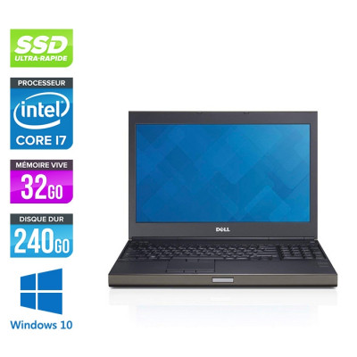 Dell Precision M4800 - i7 - 32Go - 240Go SSD - NVIDIA Quadro K2100M - Windows 10