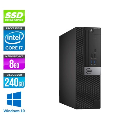 Dell Optiplex 7050 SFF - i7 - 8Go - 240Go SSD - Win 10