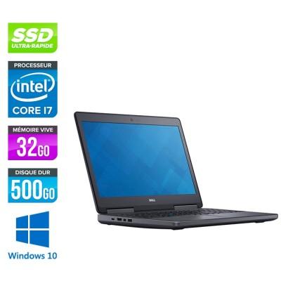 Dell Precision 7710 - i7 - 32Go DDR4 - 500GoSSD - NVIDIA Quadro M4000M - Windows 10