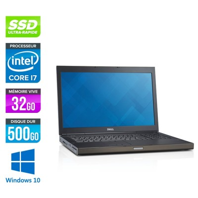 Dell Precision M6800 - i7 - 32Go - 500Go SSD - 1To HDD - NVIDIA Quadro K4100M - Windows 10