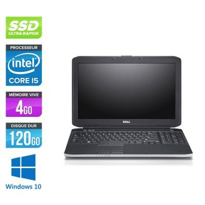 Pc portable reconditionné - Dell Latitude E5530 - i5 3320M -  4Go - SSD 120 Go - 15.6'' HD - Windows 10