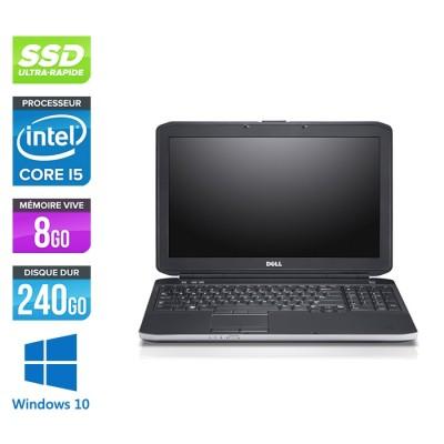 Pc portable reconditionné - Dell Latitude E5530 - i5 3320M - 8Go - SSD 240 Go - 15.6'' FHD - Windows 10