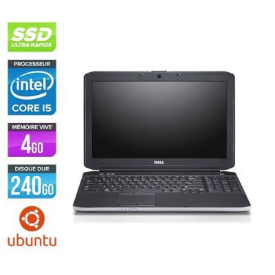 Pc portable reconditionné - Dell Latitude E5530 - i5 3320M -  4Go - SSD 240 Go - 15.6'' HD - Ubuntu / Linux