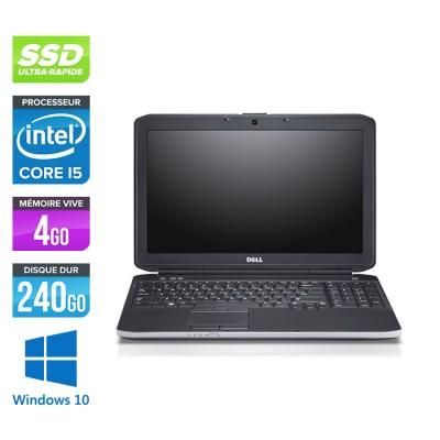 Ordinateur portable - Dell Latitude E5530 reconditionné - Intel Core i5 3320M - 4Go - 240Go SSD - 15.6'' - Windows 10