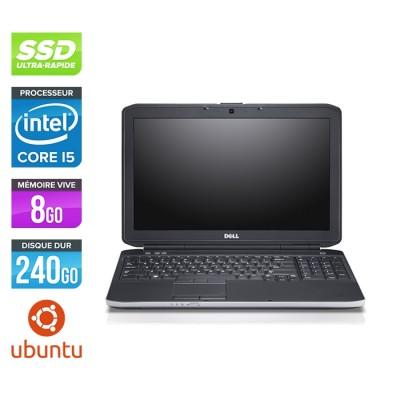 Pc portable reconditionné - Dell Latitude E5530 - i5 3320M -  8Go - SSD 240 Go - 15.6'' HD - Ubuntu / Linux