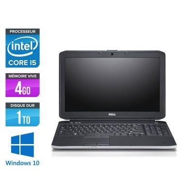 Pc portable reconditionné - Dell E5530 - i5 3320M -  4Go - 1 To HDD - 15.6'' - Windows 10