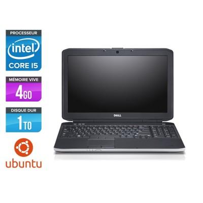 Pc portable reconditionné - Dell Latitude E5530 - i5 3320M -  4Go - 1To HDD - 15.6'' HD - Ubuntu / Linux