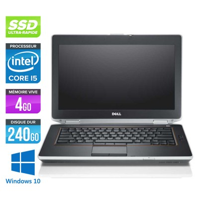 Dell Latitude E6420 - Core i5 - 4Go - 240Go SSD - Windows 10
