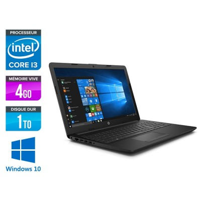 HP 15-da0010nf - i3-7020U - 4Go - 1To HDD -15.6'' Full-HD - Windows 10