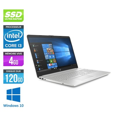 HP 15-dw0080nf - i3-7020U - 4Go - 120Go SSD +1To HDD -15.6'' HD - Windows 10
