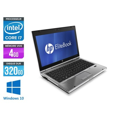 HP EliteBook 2560P - Core i7 - 4 Go - 250 Go HDD - Windows 10 Pro