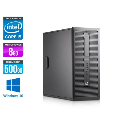 HP EliteDesk 600 G1 Tour - i5 - 8Go - 500Go HDD - Windows 10