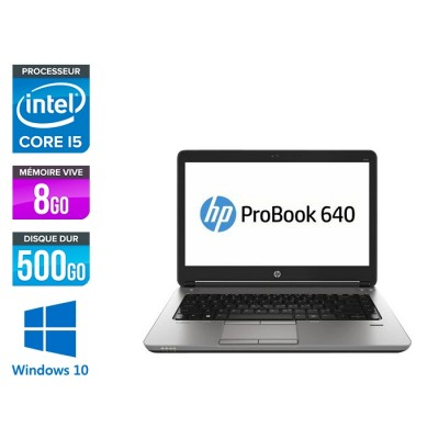 Pc portable - HP ProBook 640 - i5 4200M - 8Go - 500Go HDD - 14'' HD - Webcam - Windows 10