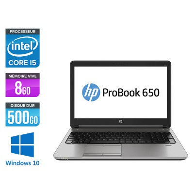 HP 650 G2 - i5 6300 - 8Go - 500Go HDD -15.6'' - Win10