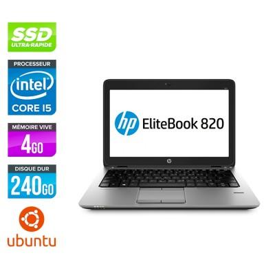 HP Elitebook 820 G2 - i5 5300U - 4Go - 240 Go SSD  - Ubuntu - linux