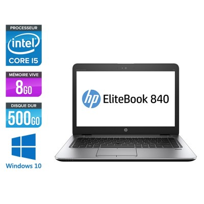 HP Elitebook 840 G2 - i5 - 8Go - HDD 500Go - 14'' - Windows 10