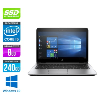 HP Elitebook 840 G3 - i5 - 8Go - SSD 240Go - 14'' - Windows 10