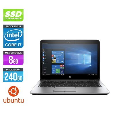 HP Elitebook 840 G3 - i7 - 8Go - SSD 240Go - 14'' - Linux