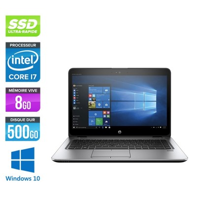HP Elitebook 840 G3 - i7 - 8Go - SSD 500Go - 14'' - Windows 10