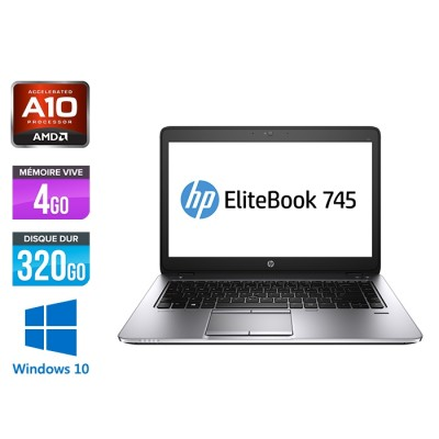 HP Elitebook 745 G2 - AMD A10 - 4Go - 320Go HDD - 14'' - Windows 10