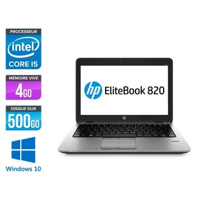 HP Elitebook 820 - i5 4300U - 4Go - 500 Go HDD  - Windows 10