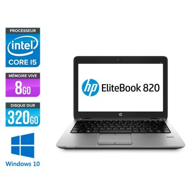 HP Elitebook 820 - i5 4300U - 8Go - 3200 Go HDD  - Windows 10