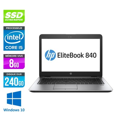 HP Elitebook 840 G2 - i5 - 8Go - SSD 240Go - 14'' - Windows 10