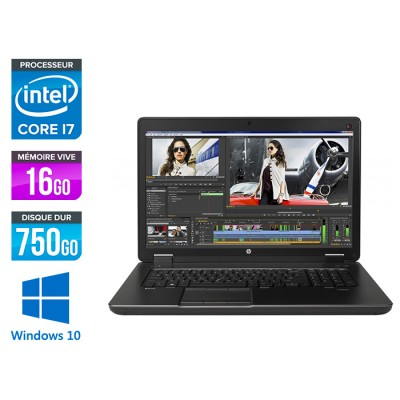 HP Zbook 17 G2 - i7 - 16Go - HDD 750Go - Nvidia K3100M - Windows 10