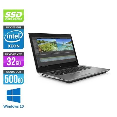Hp Zbook 17 G6 - i7 - 32Go - 500Go SSD - Windows 10