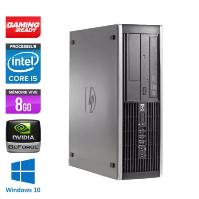 HP Elite 8200 SFF - Core i5 - 8Go - 500Go - Nvidia GT 730 - Windows 10